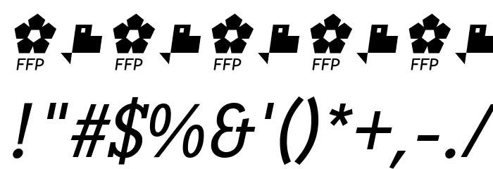 PentayBook-Italic Font Alte caractere