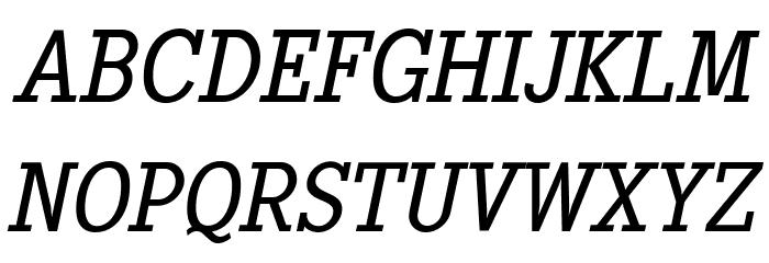 PentayBook-Italic Font Litere mari