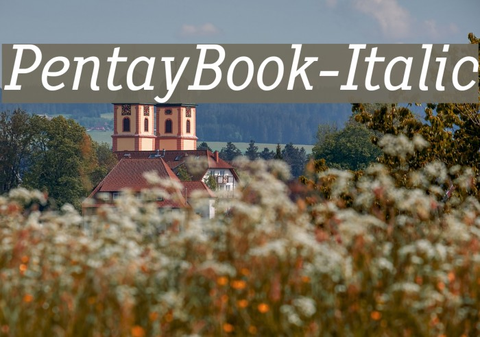 PentayBook-Italic Font examples