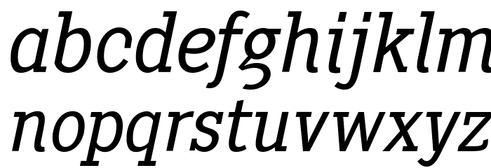 PentayBook-Italic Font Litere mici