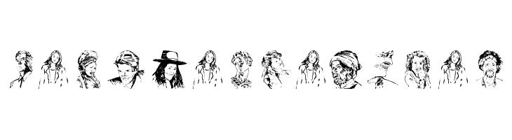 PeopleSketches  नि: शुल्क फ़ॉन्ट्स डाउनलोड