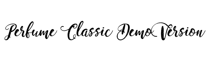 Perfume Classic Demo Version  Descarca Fonturi Gratis
