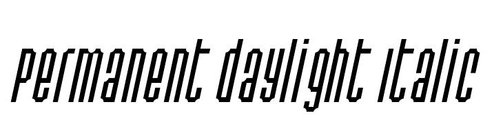 Permanent daylight Italic  baixar fontes gratis