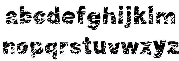 Peroxide Font LOWERCASE