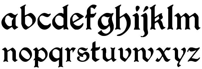 PerryGothic Regular Polices MINUSCULES