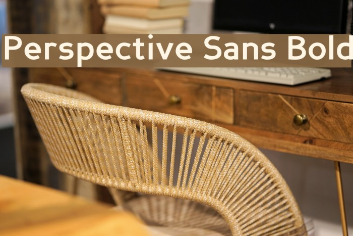 Perspective Sans Bold Fonte examples