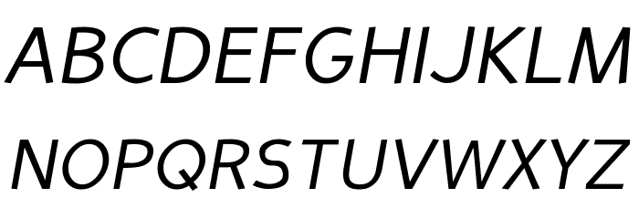 Perspective Sans Italic Шрифта ВЕРХНИЙ
