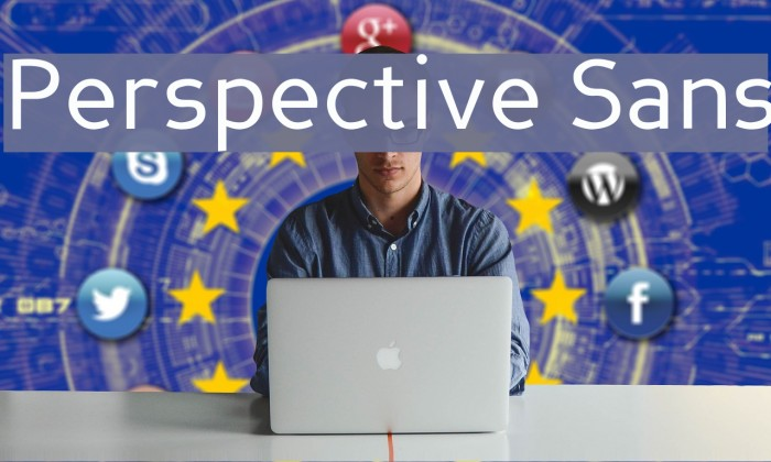 Perspective Sans Fonte examples