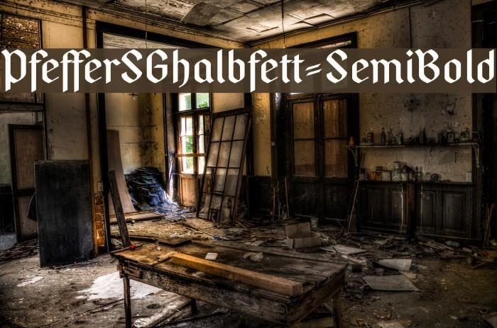 PfefferSGhalbfett-SemiBold फ़ॉन्ट examples