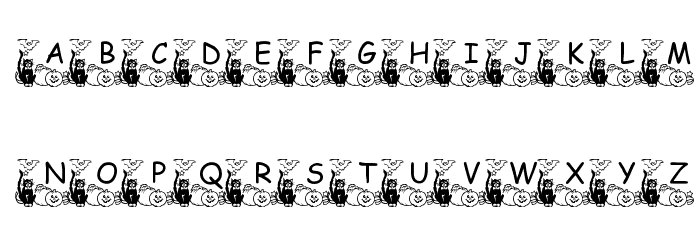 pf_holloween2 Font LOWERCASE