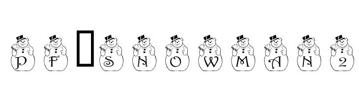 pf_snowman2  Free Fonts Download