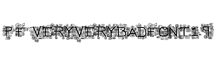 pf_veryverybadfont19  Free Fonts Download