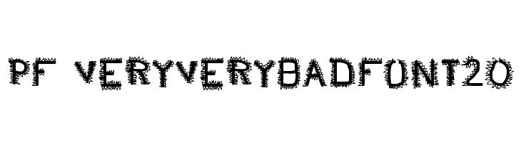pf_veryverybadfont20  Free Fonts Download