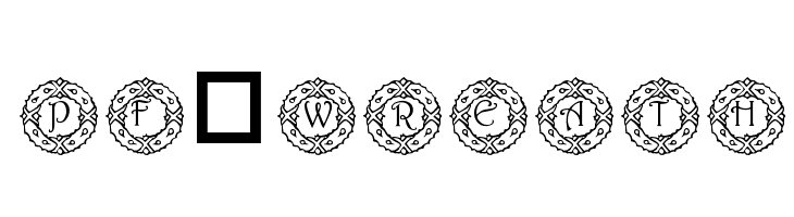 pf_wreath  Free Fonts Download