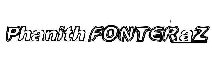 Phanith FONTER aZ  font caratteri gratis