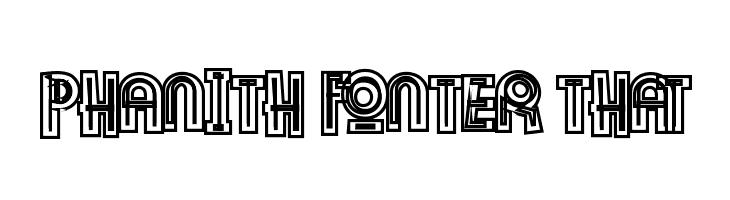 Phanith Fonter THAT  font caratteri gratis