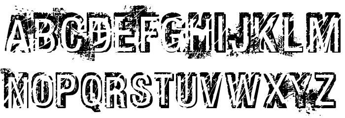 Phat Grunge Bold Font UPPERCASE