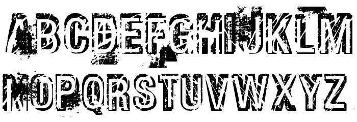 Phat Grunge Bold Font LOWERCASE