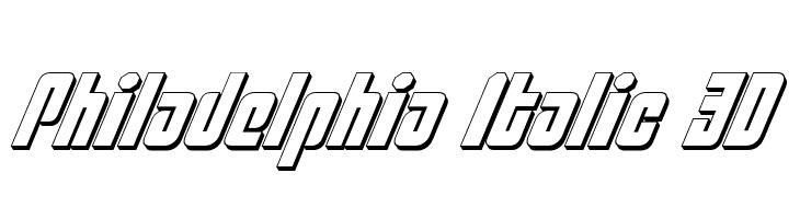 Philadelphia Italic 3D  baixar fontes gratis