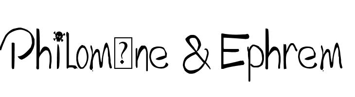 Philom�ne & Ephrem  Fuentes Gratis Descargar