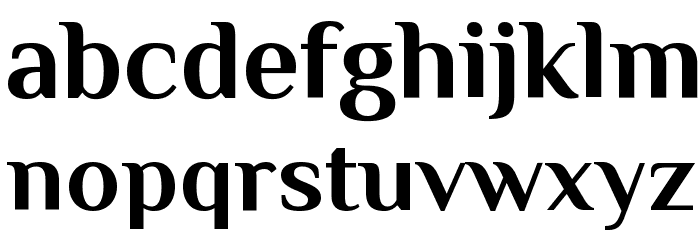 Philosopher Bold Font LOWERCASE