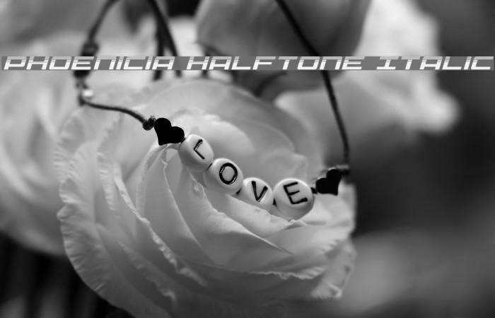 Phoenicia Halftone Italic Fonte examples