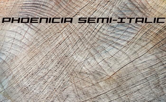 Phoenicia Semi-Italic Font examples