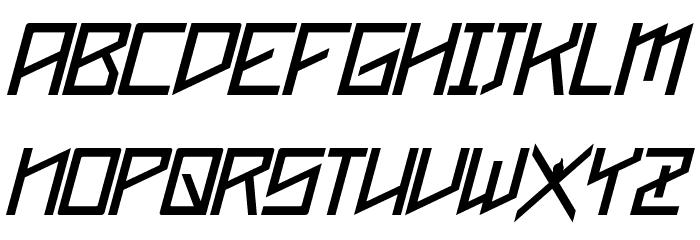 Phoenixians Italic Font UPPERCASE