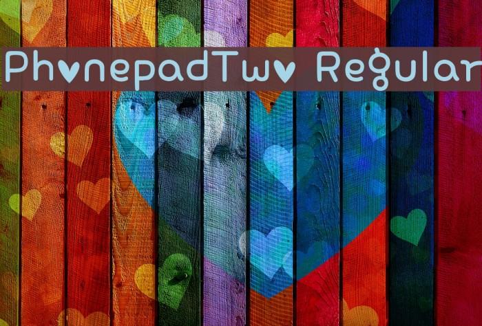 PhonepadTwo Regular Шрифта examples