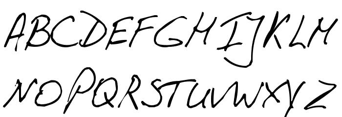 PhontPhreak's Handwriting Font UPPERCASE