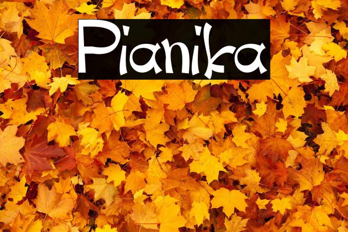 Pianika Шрифта examples
