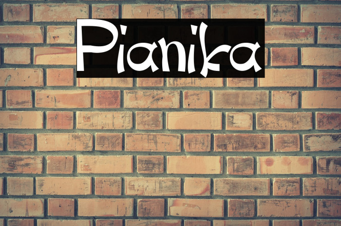 Pianika Font examples