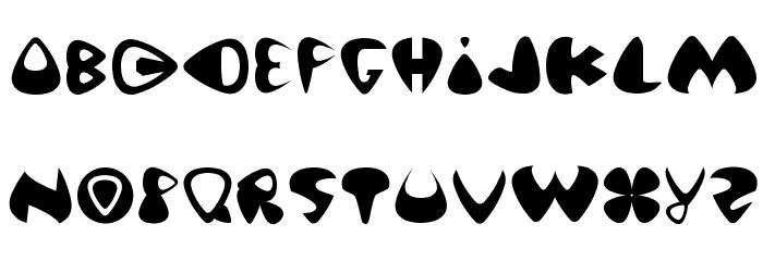 Pick of Destiny Schriftart Kleinbuchstaben