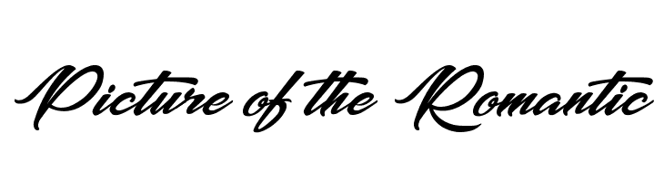 Picture of the Romantic Schriftart