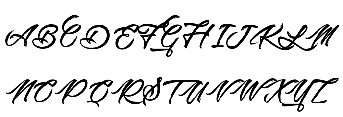 Picture of the Romantic Schriftart Groß