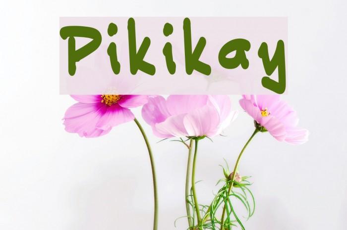 Pikikay Шрифта examples