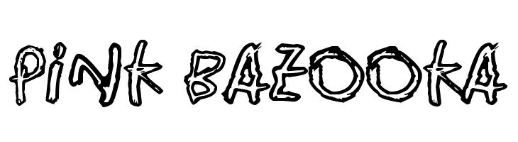 Pink Bazooka  Free Fonts Download