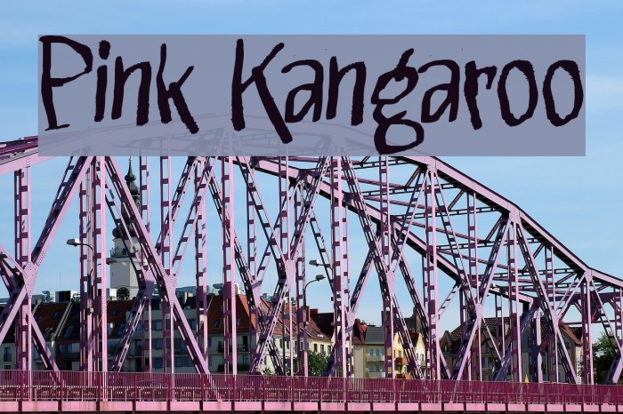 Pink Kangaroo Font examples