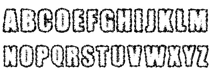 Pinniepoker Font UPPERCASE