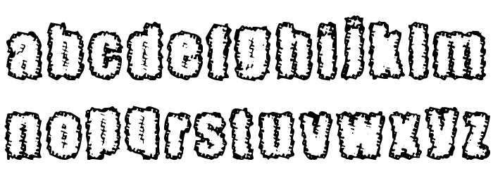Pinniepoker Font LOWERCASE