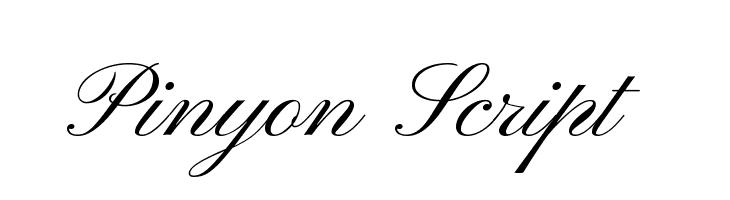 Pinyon Script  Fuentes Gratis Descargar