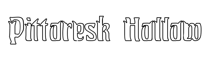 Pittoresk Hollow  Free Fonts Download