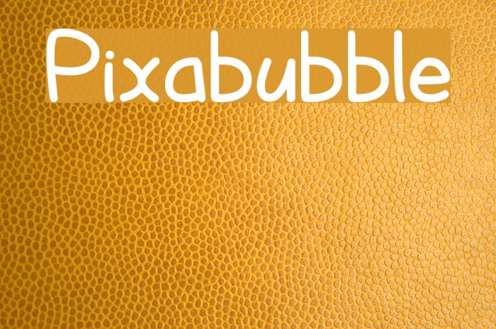 Pixabubble Font examples