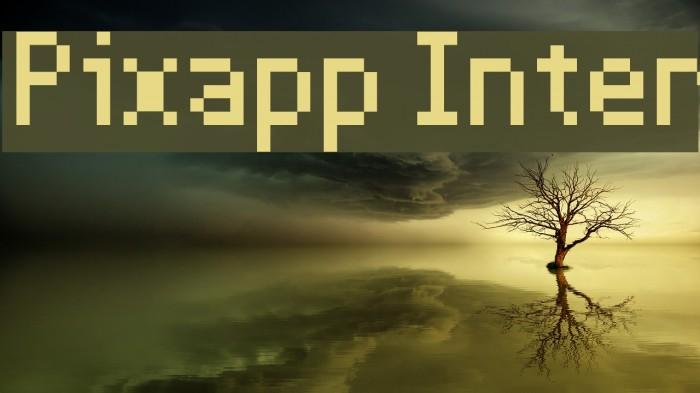 Pixapp Inter Font examples