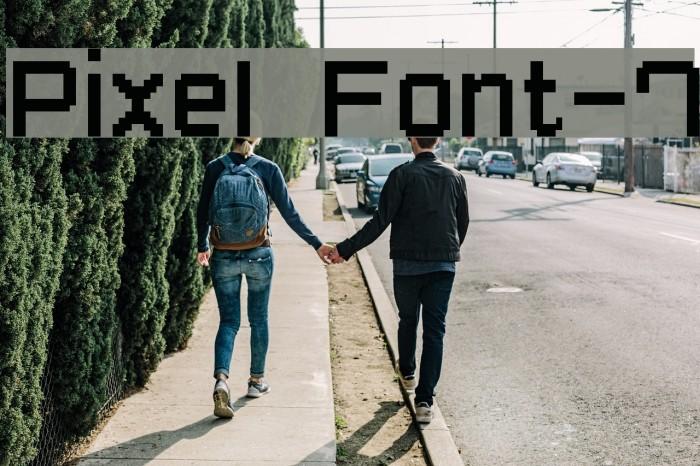 Pixel Font-7 Fonte examples