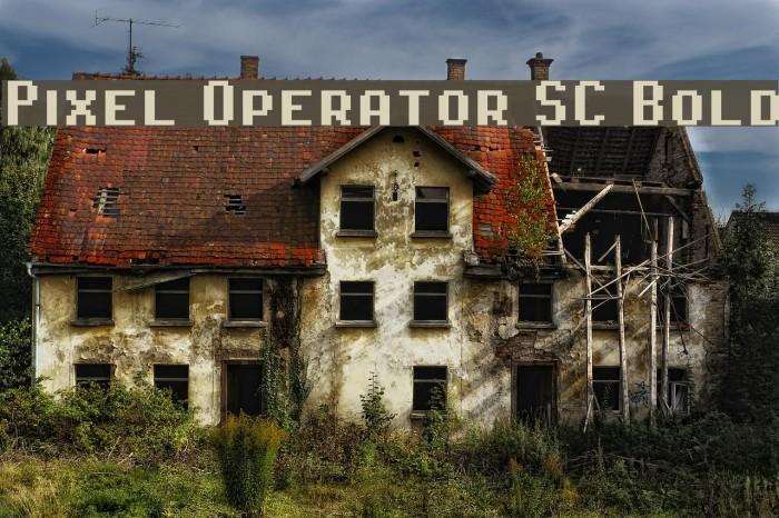 Pixel Operator SC Bold Fonte examples