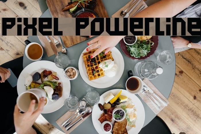 Pixel Powerline Fonte examples
