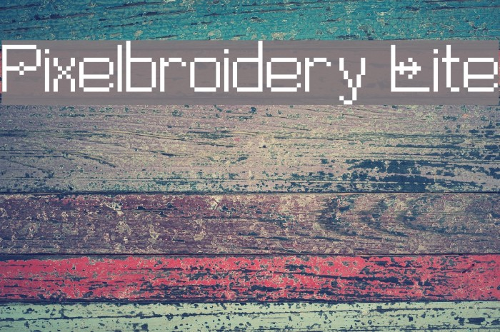 Pixelbroidery Lite Polices examples