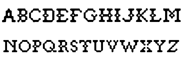 Pixelstitch फ़ॉन्ट अपरकेस