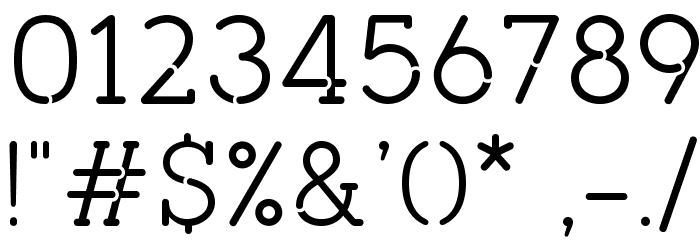 pironv2stencil Font OTHER CHARS